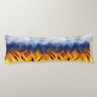 Ice & Flame Body Pillow