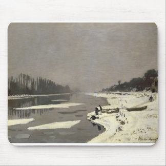 Ice Floes on the Seine at Bougival (1867-1868) Mouse Pad