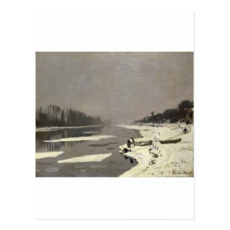 Ice Floes on the Seine at Bougival (1867-1868) Postcard