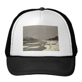 Ice Floes on the Seine at Bougival (1867-1868) Trucker Hat
