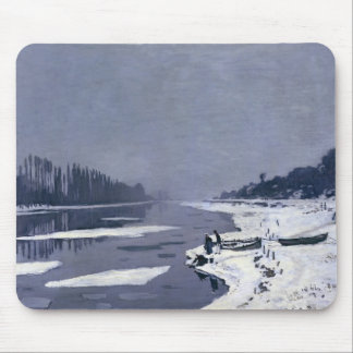 Ice floes on the Seine at Bougival, c.1867-68 Mouse Pad