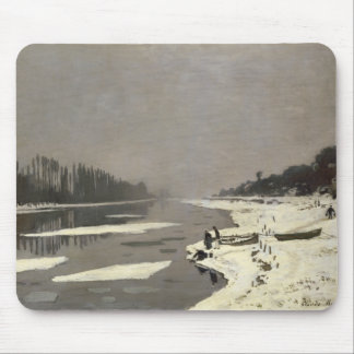 Ice Floes on the Seine at Bougival - Claude Monet Mouse Pad