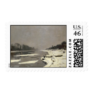 Ice Floes on the Seine at Bougival - Claude Monet Stamp