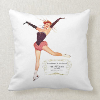Ice Follies of 1956 Reversible Square Pillow