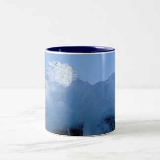 Ice Formation on Bunker Hill Two-Tone Coffee Mug