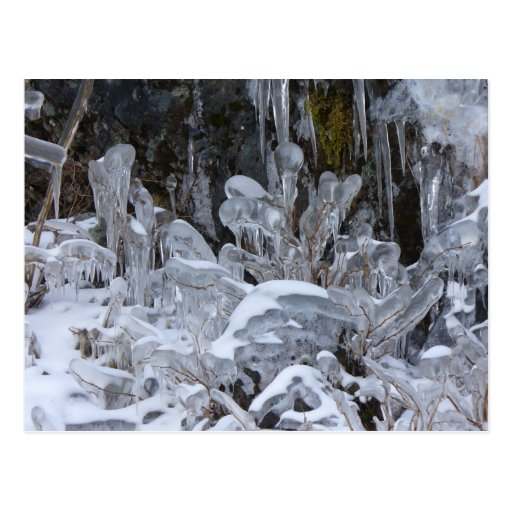 Ice Formations, Unalaska Island Postcard