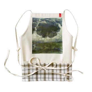 Ice forming a circle on a mountain zazzle HEART apron