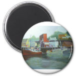 ice & fuel, Portsmouth Harbor 2 Inch Round Magnet