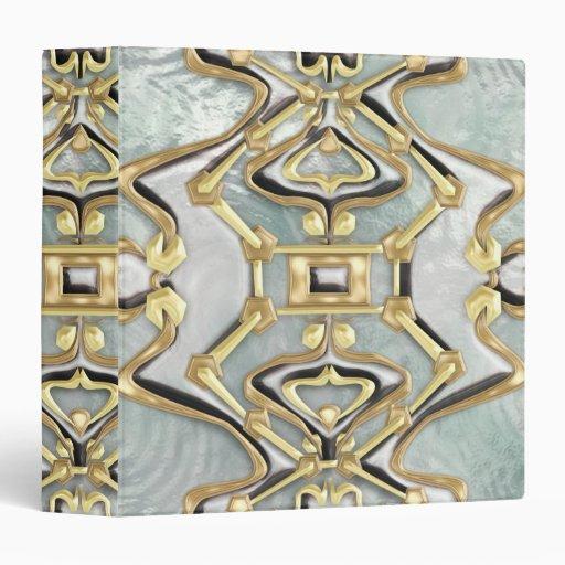 Ice, Gold & Brass 3 Ring Binders