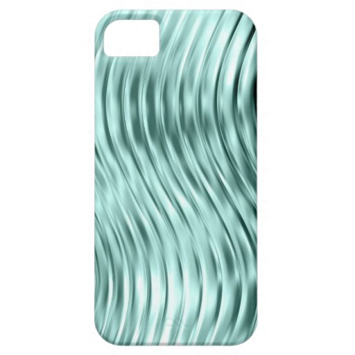 Ice Green Curved Glass Print iPhone 5 Case-Mate
