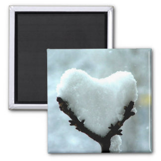 Ice Heart 2 Inch Square Magnet