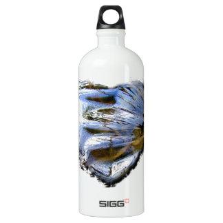 Ice Heart; No Text Aluminum Water Bottle