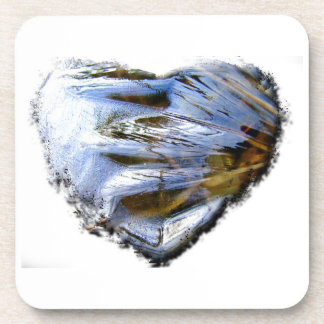 Ice Heart; No Text Beverage Coaster