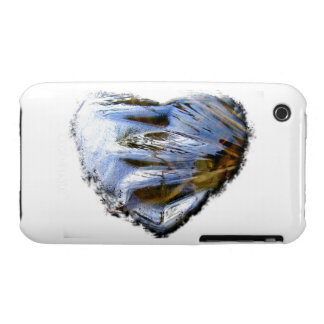 Ice Heart; No Text iPhone 3 Case-Mate Cases