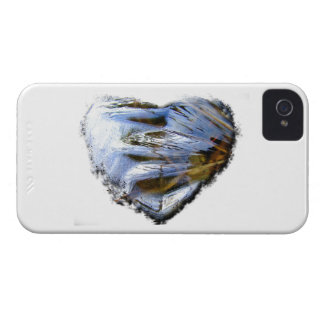 Ice Heart; No Text iPhone 4 Case