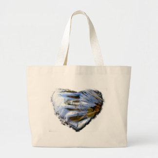 Ice Heart; No Text Large Tote Bag