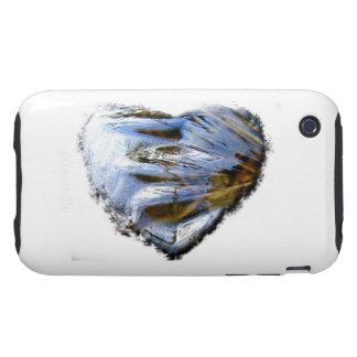 Ice Heart; No Text Tough iPhone 3 Case