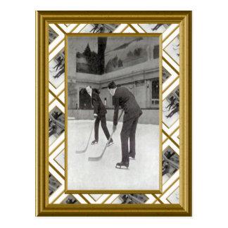 Ice Hockey, 1920 Postcard