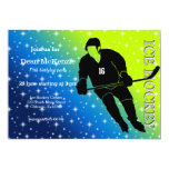 Ice Hockey 5x7 Paper Invitation Card
