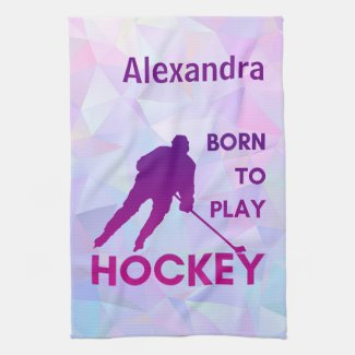 Ice hockey blade towel absorb born to play purple