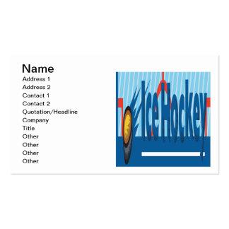 Ice Hockey Business Card Template