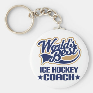 Ice Hockey Coach Gift Keychain