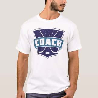 Ice Hockey Coach T-Shirt, with Name & Number T-Shirt