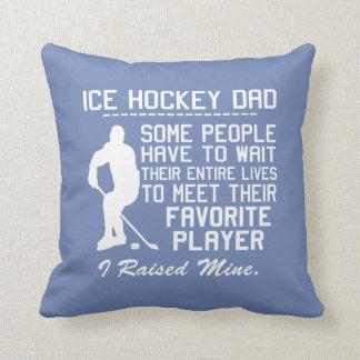 ICE HOCKEY DAD THROW PILLOW