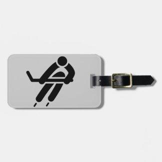 Ice Hockey Design Luggage Tags