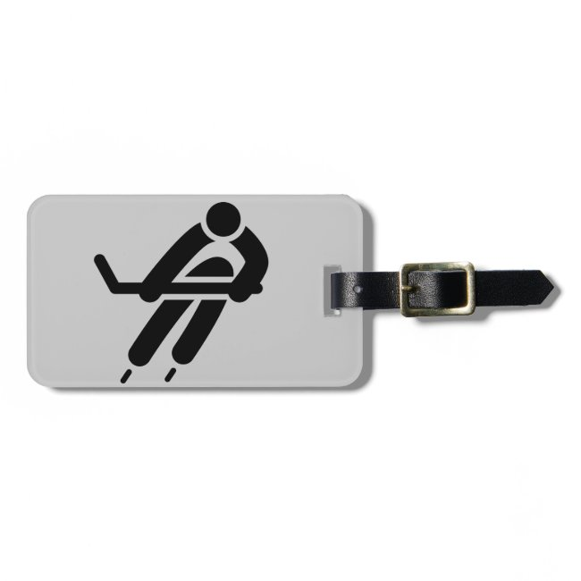 Ice Hockey Design Luggage Tags