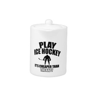 Ice hockey design teapot