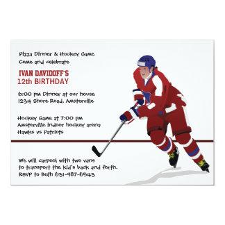 Ice Hockey Fan Invitation