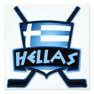 Ice Hockey Flag Logo Card