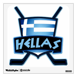 Ice Hockey Flag Logo Wall Sticker