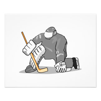 ice hockey goal keeper goalie graphic flyer