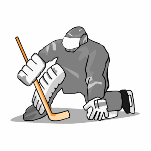 ice hockey goal keeper goalie graphic photo cut outs