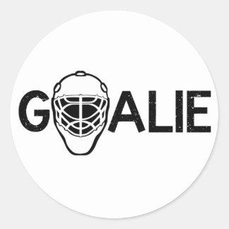 Ice Hockey Goalie Classic Round Sticker