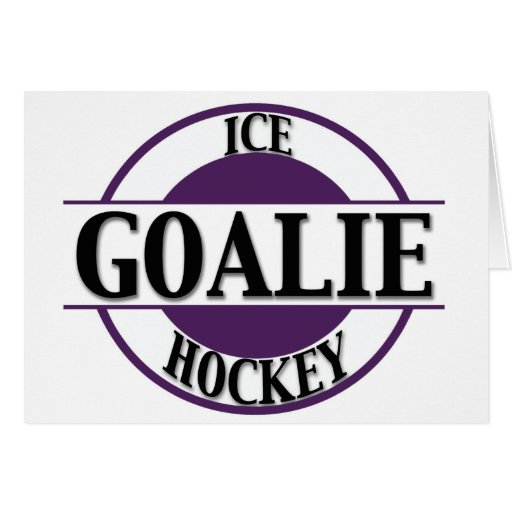 Ice Hockey Goalie Greeting Card