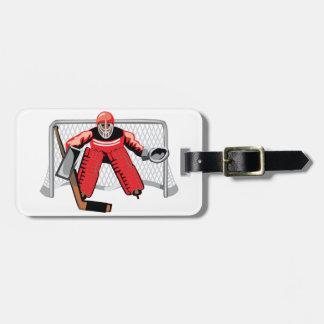 Ice Hockey Goalie Luggage Tags