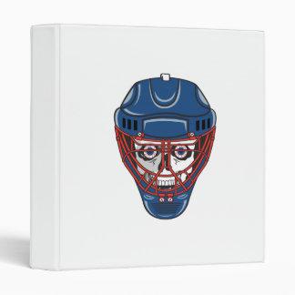 ice hockey goalie mask skull design 3 ring binder
