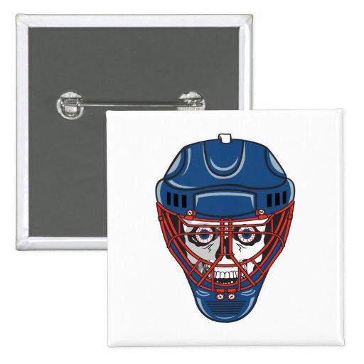 ice hockey goalie mask skull design pins
