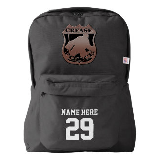 Ice Hockey Goalie Name & Number Print Backpack