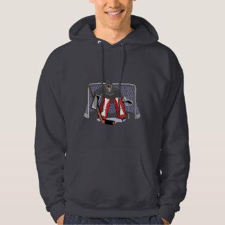 ice hockey goalie realistic vector illustration hoodie