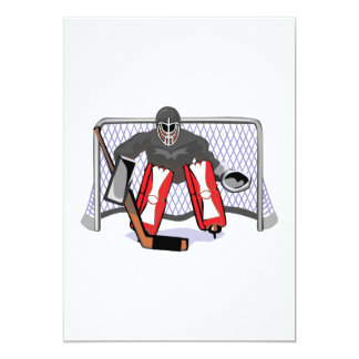 ice hockey goalie realistic vector illustration personalized invite