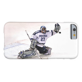Ice Hockey Goalkeeper With Your Name Drawing Barely There iPhone 6 Case