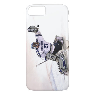 Ice Hockey Goalkeeper With Your Name Drawing iPhone 7 Case