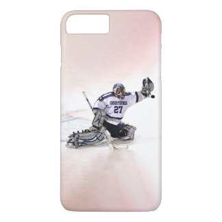 Ice Hockey Goalkeeper With Your Name Drawing iPhone 7 Plus Case
