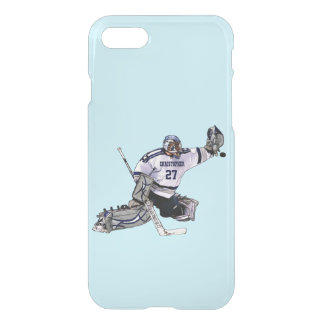 Ice Hockey Goalkeeper With Your Name Drawing iPhone 8/7 Case
