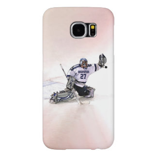 Ice Hockey Goalkeeper With Your Name Drawing Samsung Galaxy S6 Case