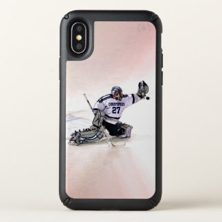 Ice Hockey Goalkeeper With Your Name Drawing Speck iPhone X Case